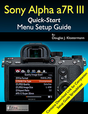 sony a7r iii menu setup guide user guide full stop books